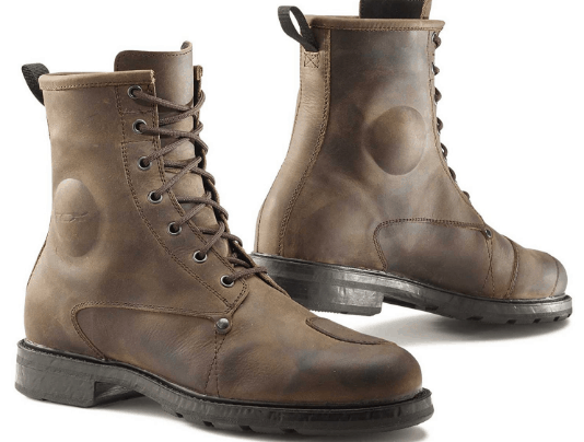 TCX X-Blend Waterproof Men's Street Motorcycle Boots in Vintage Brown
